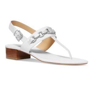 Michael Kors Charlton Sandal Leather Split white